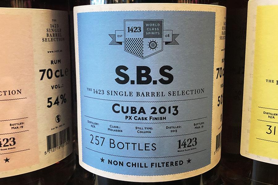 Månadens rom juli 2019: 1423 SBS Cuba 2013 PX Cask Finish
