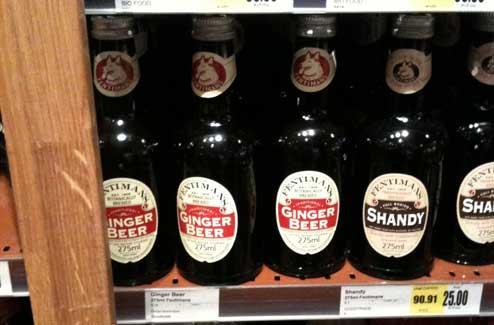 Ginger Beer-flaskor på Cajsa Warg