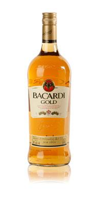 Bacardi Gold flaska