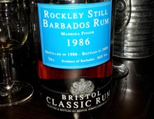 Bristol Classic Rum Rockley Still Barbados 1986