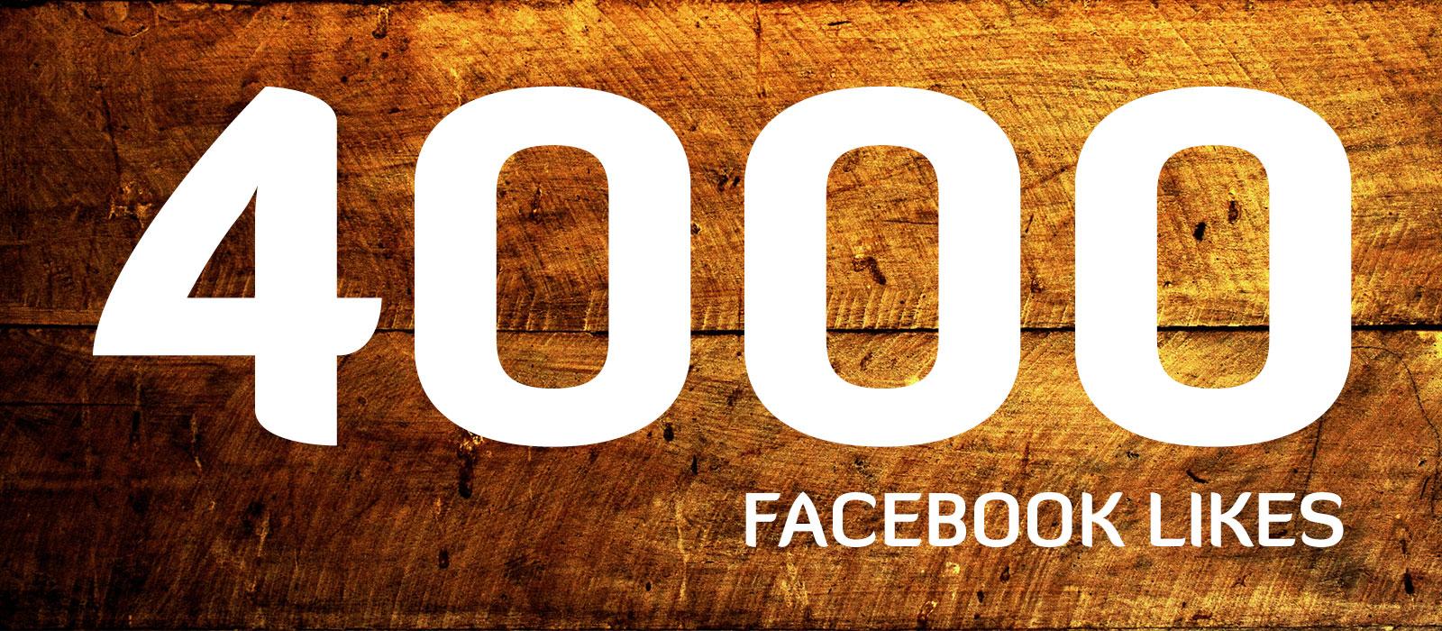 4000 Likes på Facebook