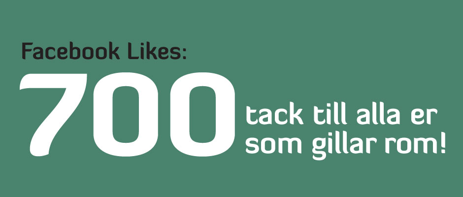 700 Likes på Facebook