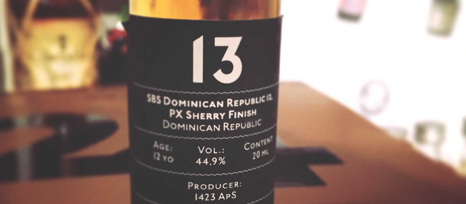 Månadens rom januari 2017: SBS Dominican Republic 12 Years PX Sherry Finish