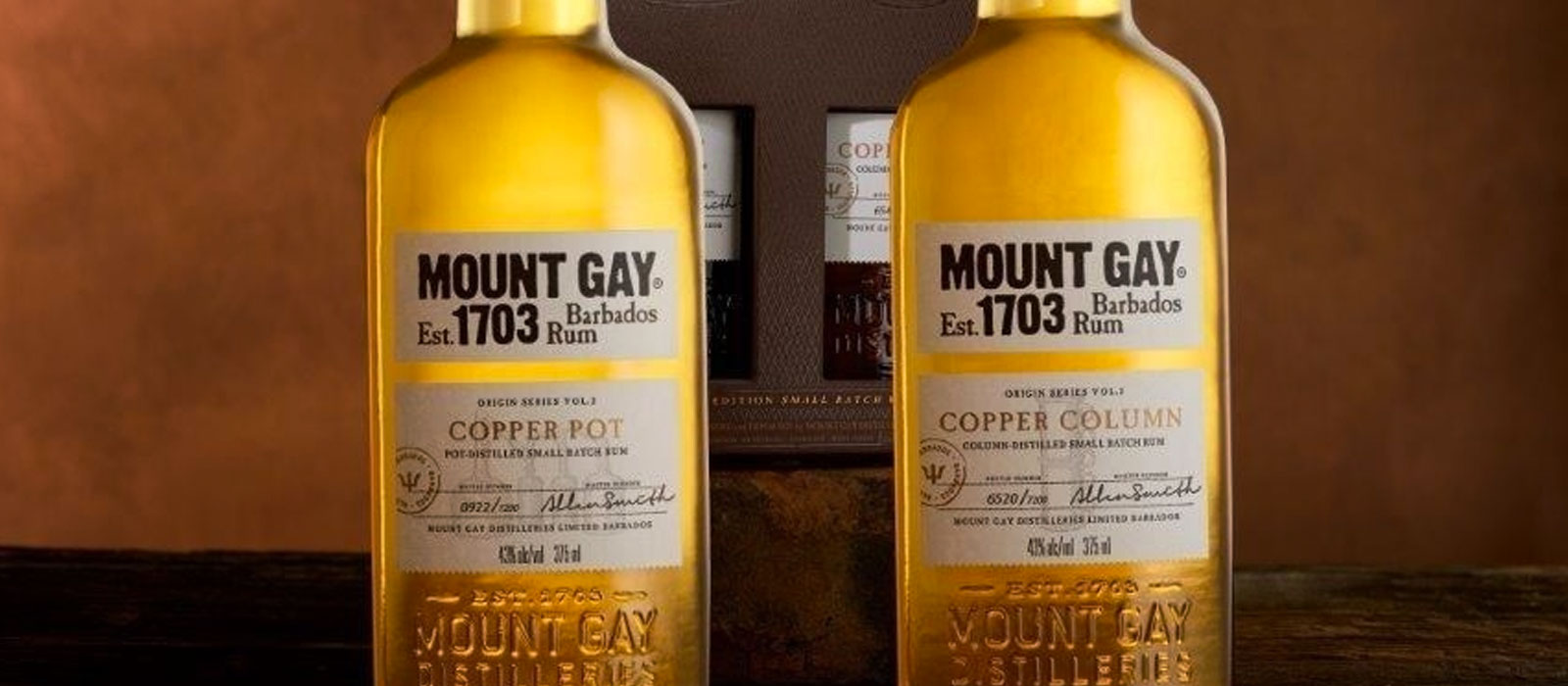 Mount Gay Origin Series Copper Stills på Birka