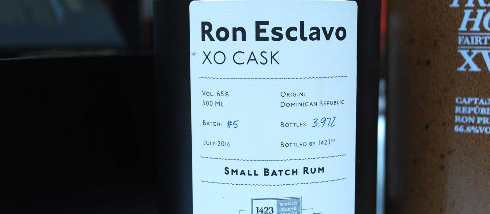 Sjätte plats 2016: Ron Esclavo XO Cask