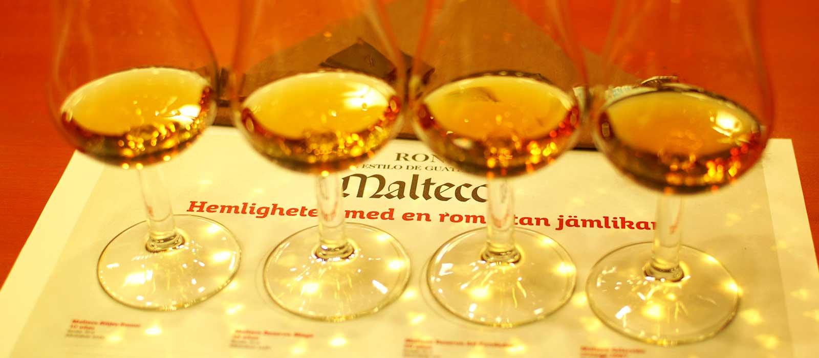 Provning: Ron Malteco kombinerat med choklad