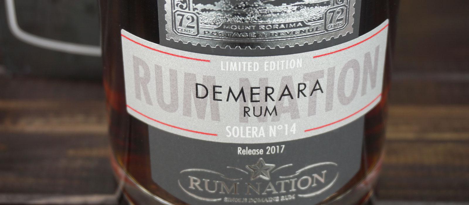 Fjärde plats 2019: Rum Nation Demerara Solera No. 14
